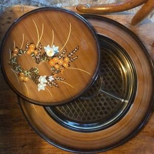 Other - Vintage Japan lacquerware relish/condiment tray